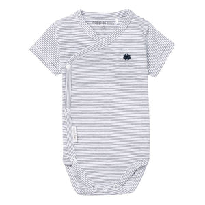 67355 - Noppies Navy Striped Short Sleeve Onesie Onesie Noppies