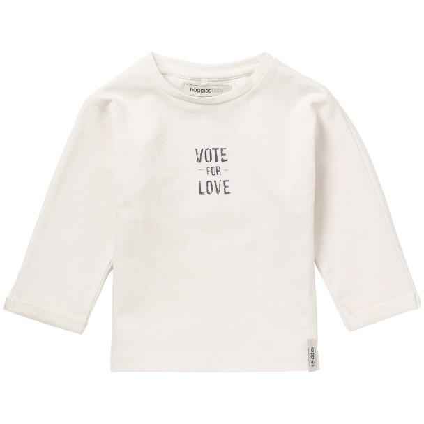 74101- Noppies - Oatmeal Vote for Love Shirt Long Sleeve Shirts Noppies