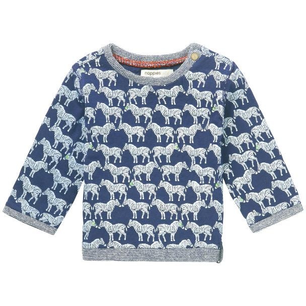 74138- Noppies - Indigo Zebra Sweatshirt (1-2 Months) Sweatshirt Noppies