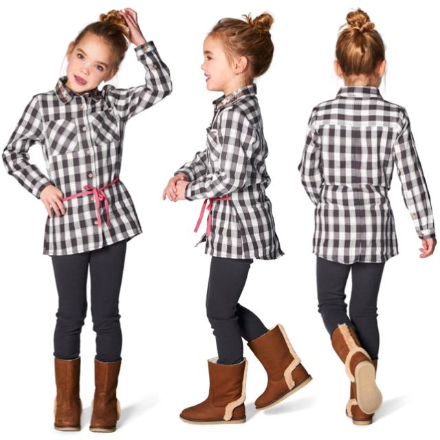 75566- Noppies Black and White Plaid Horn Check Tunic Dress Noppies