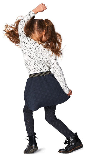 75658- Noppies Navy Dot Skirt Dress Noppies