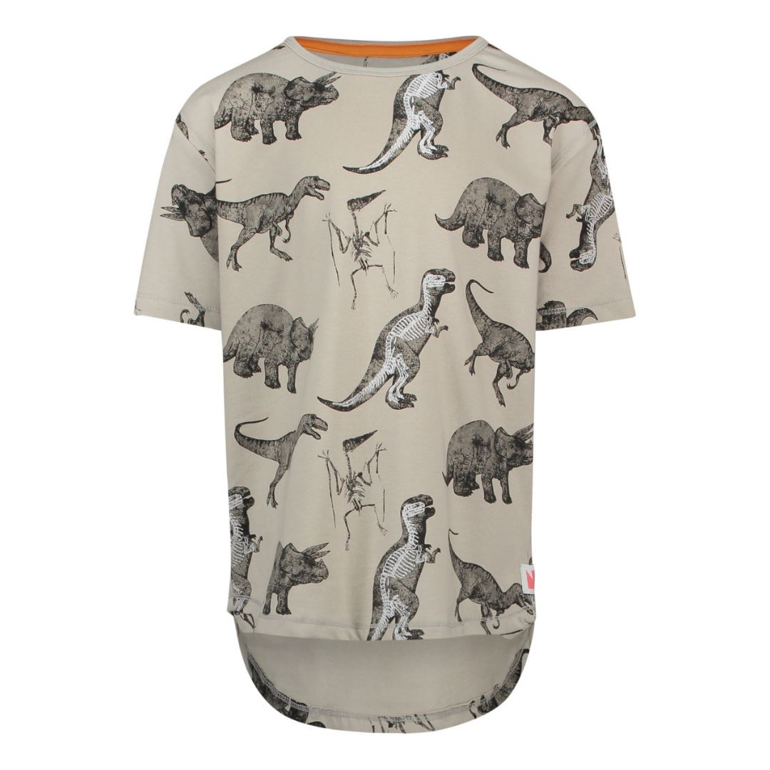 86618- Noppies Grey Dinosaur T-shirt Short Sleeve Shirts Noppies