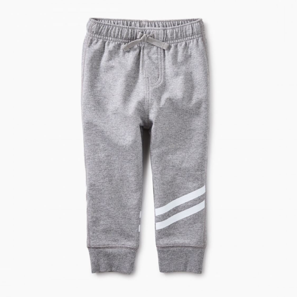 8F42200-014 Tea Collection Grey Sporty Stripe Baby Joggers Pants Tea Collection