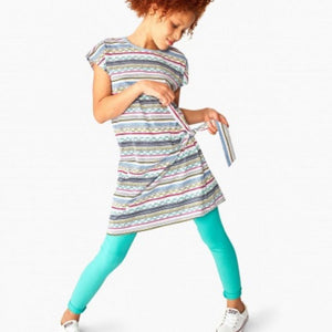 8F82209-493 Tea Collection Girls Light Laguna Solid Leggings Leggings Tea Collection