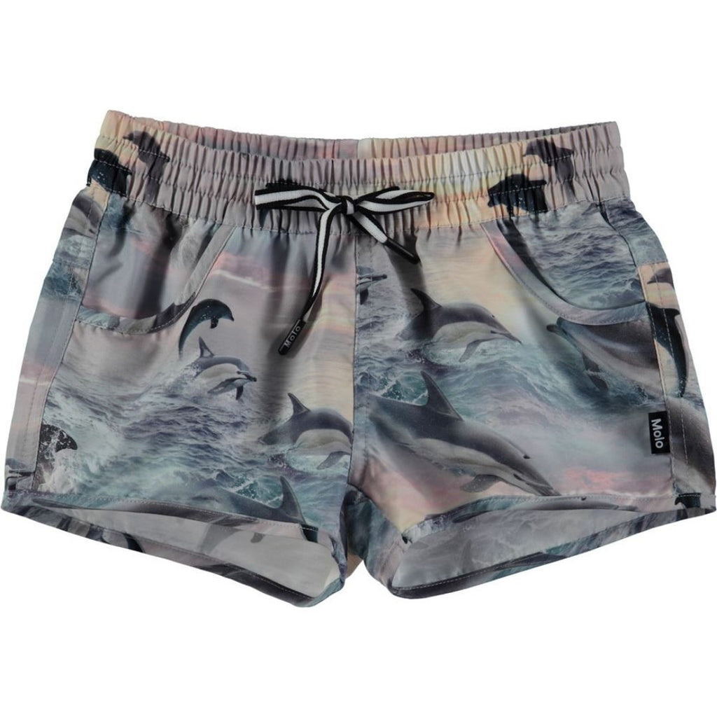 8S18P401 Molo - Nalika Dolphins Sunset Swim Shorts Swimwear Molo