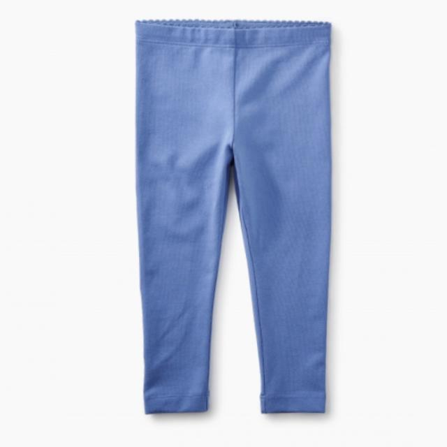 8S32200B Tea Collection Solid Baby Leggings - Blue Yarrow Leggings Tea Collection