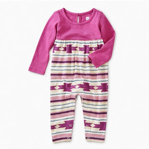 8W32516 - Tea Collection Crystal Geo Two Tone Baby Girl Romper Jumpsuits / Rompers Tea Collection