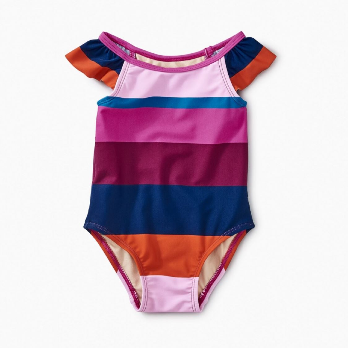 8W32600 - Tea Collection Cabana Stripe One Piece Girls Swimsuit Swimwear Tea Collection