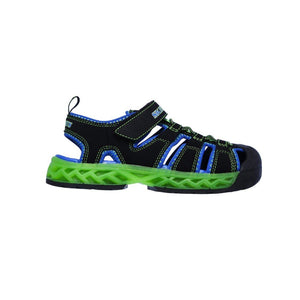 90707L-BBLM Skechers Lights Flex-Flow Black / Lime (Kids 11 - Youth 5) footwear Skechers