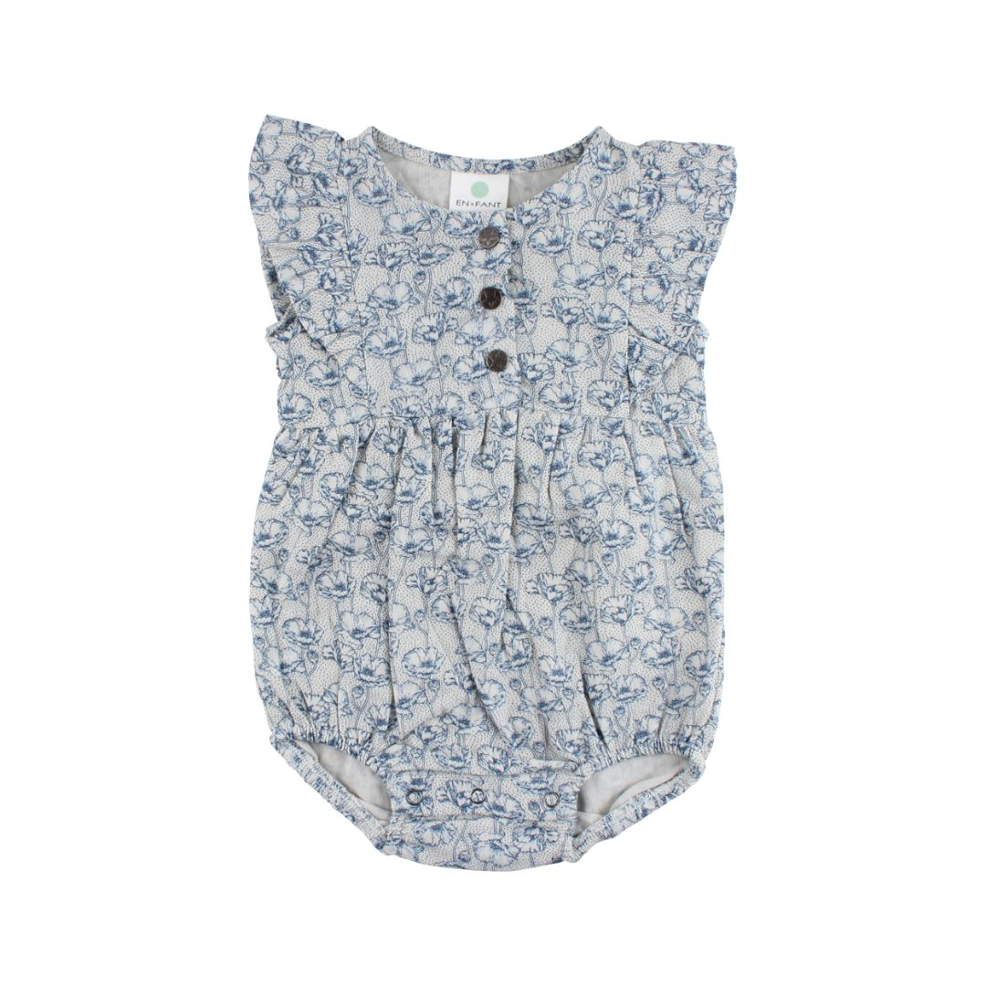 90834 Enfant - Foggy dew Ink Playsuit-Oekotex Romper Enfant