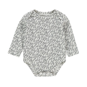 94515 - Noppies - Qassimiut Unisex Baby Organic Long Sleeve Onesie - White Onesie Noppies