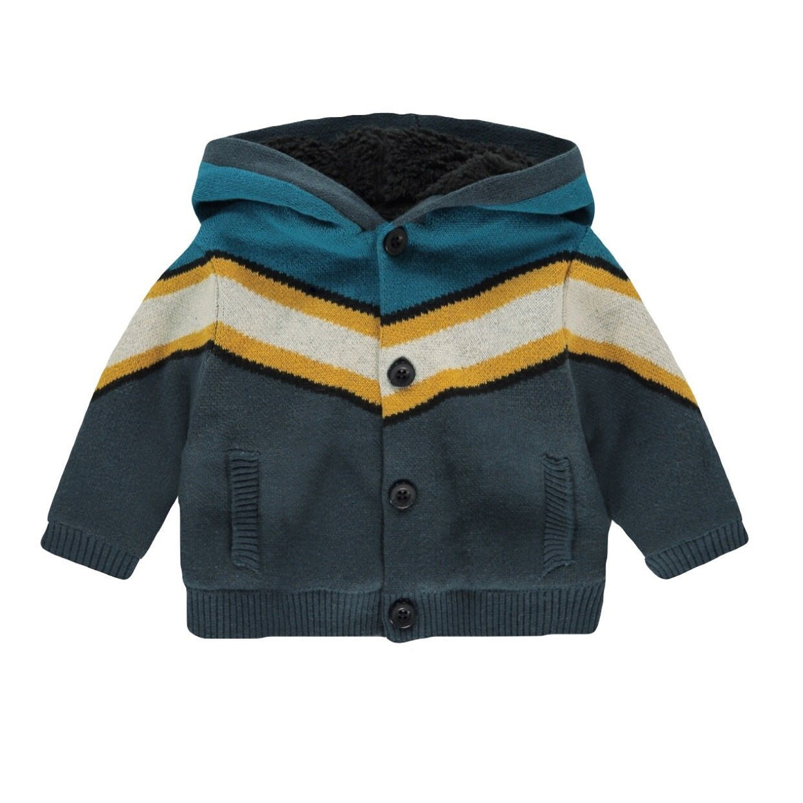 94534 - Noppies - Alamosa Baby Boy Organic Cardigan - Midnight Navy Cardigan Noppies