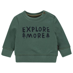 94634 - Noppies - Allendale Baby Boy Sweatshirt - Silver Pine Sweatshirt Noppies