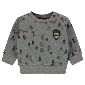 94636 - Noppies - Allentown Baby Boy Sweatshirt - Charcoal Melange Sweatshirt Noppies