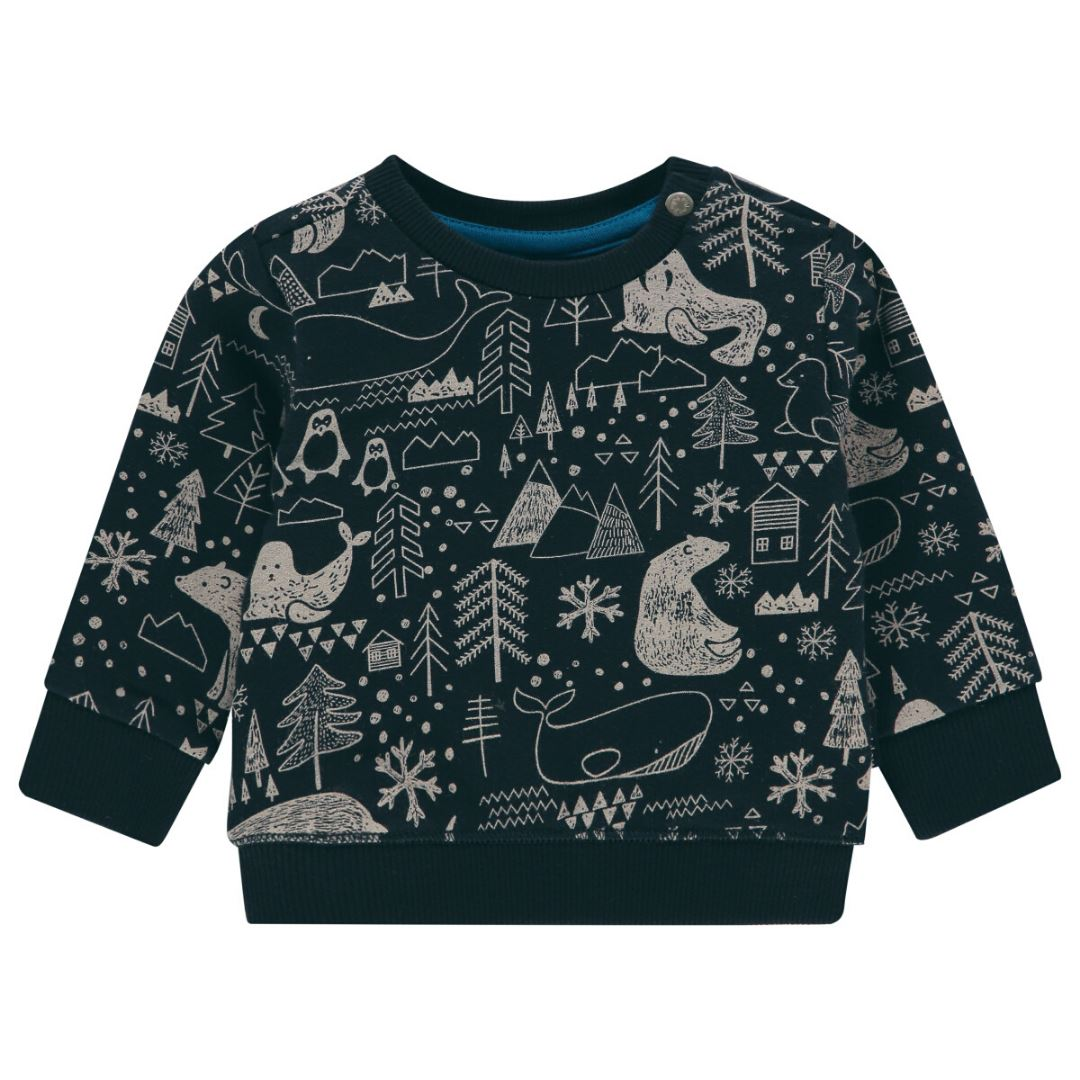 94704 - Noppies - Baby Boy Adams Sweatshirt - Dark Saphire Sweatshirt Noppies