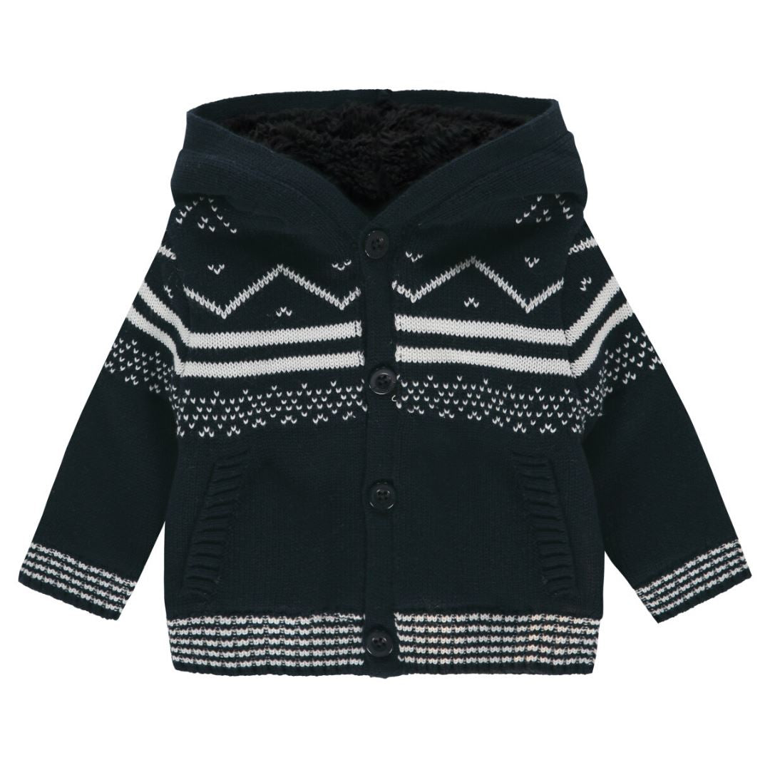 94709 - Noppies - Baby Boy Boston Cardigan - Dark Saphire Cardigan Noppies
