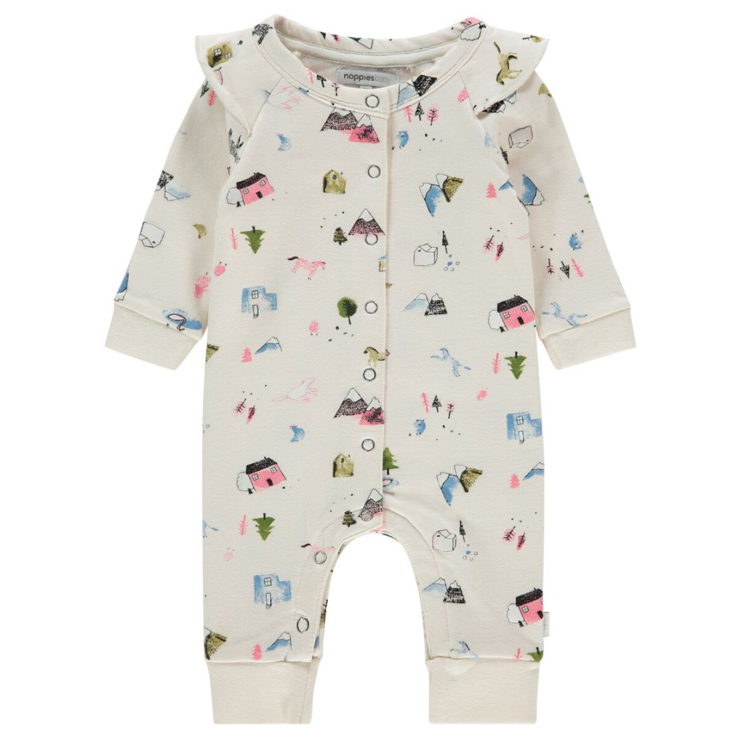 94768 - Noppies - Carlsblad Baby Girl Playsuit - Whisper White Sleeper Noppies