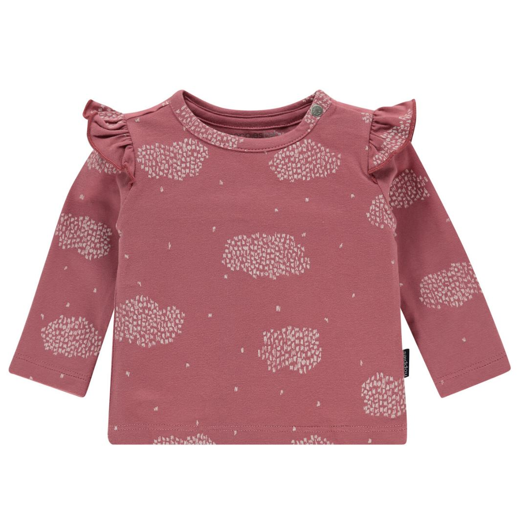 94771 - Noppies - Baby Girl Cadillac Organic Longsleeve Top - Mauvewood Long Sleeve Shirt Noppies