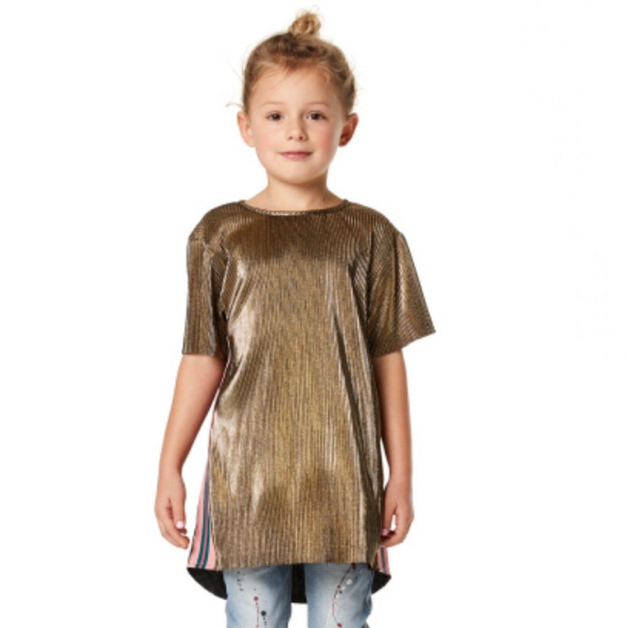 96163 - Noppies Gold Albertville Girls Short Sleeve Shirt Short Sleeve Shirts Noppies