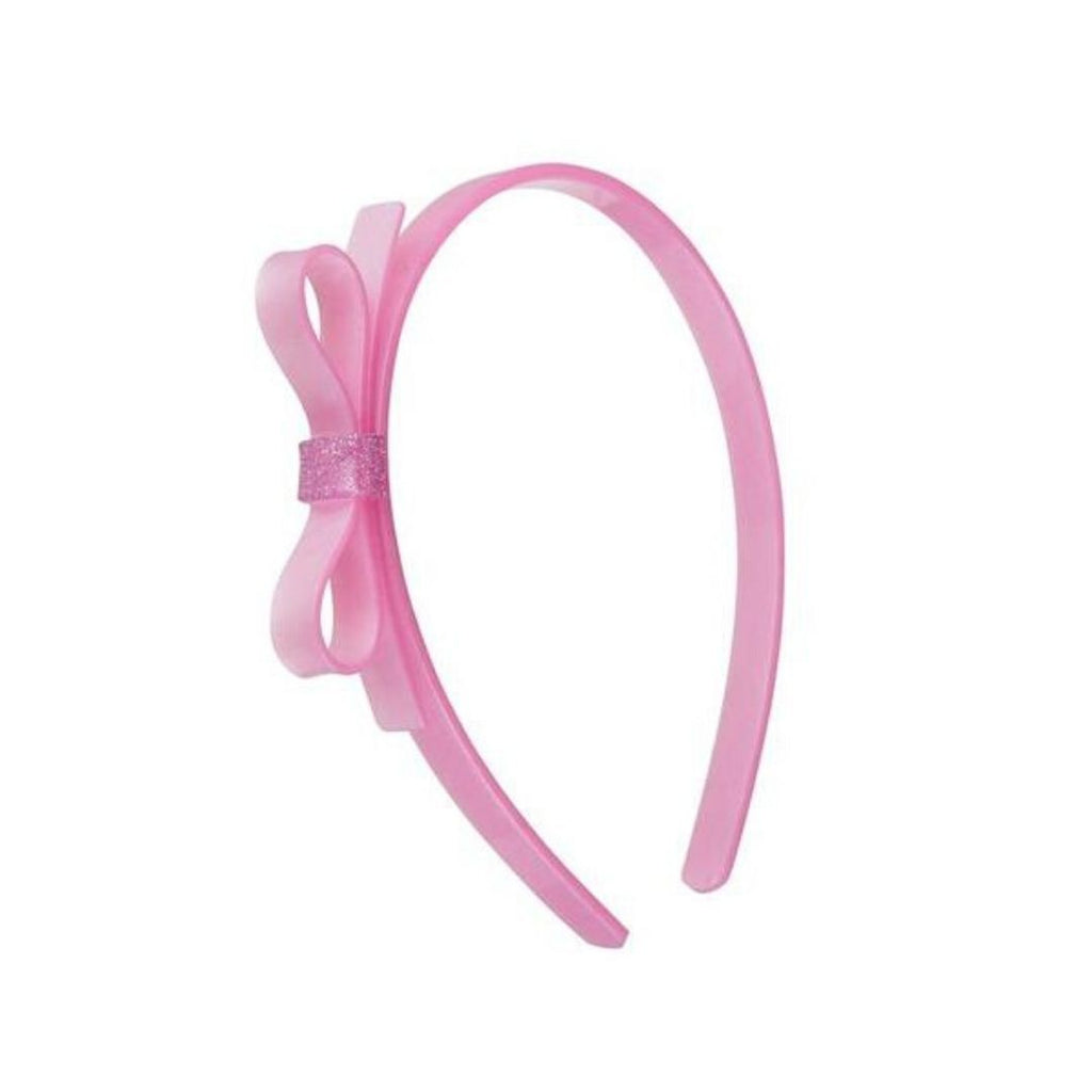 999888777038 Lilies & Roses - Thin Bow Headband - Pearlized Pink Headband Lilies & Roses