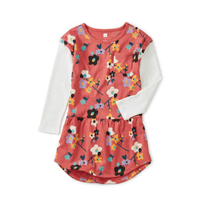 9F12328-K37 Tea Collection Himalayn Blossoms Wild Cherry Girls Dress Dress Tea Collection