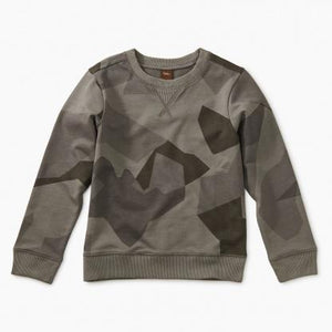 9F22105 Tea Collection Mountain Camo Printed Sweatshirt Sweatshirt Tea Collection
