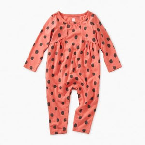 9F32505 Tea Collection Printed Paneled Baby Girl Romper Jumpsuits / Rompers Tea Collection