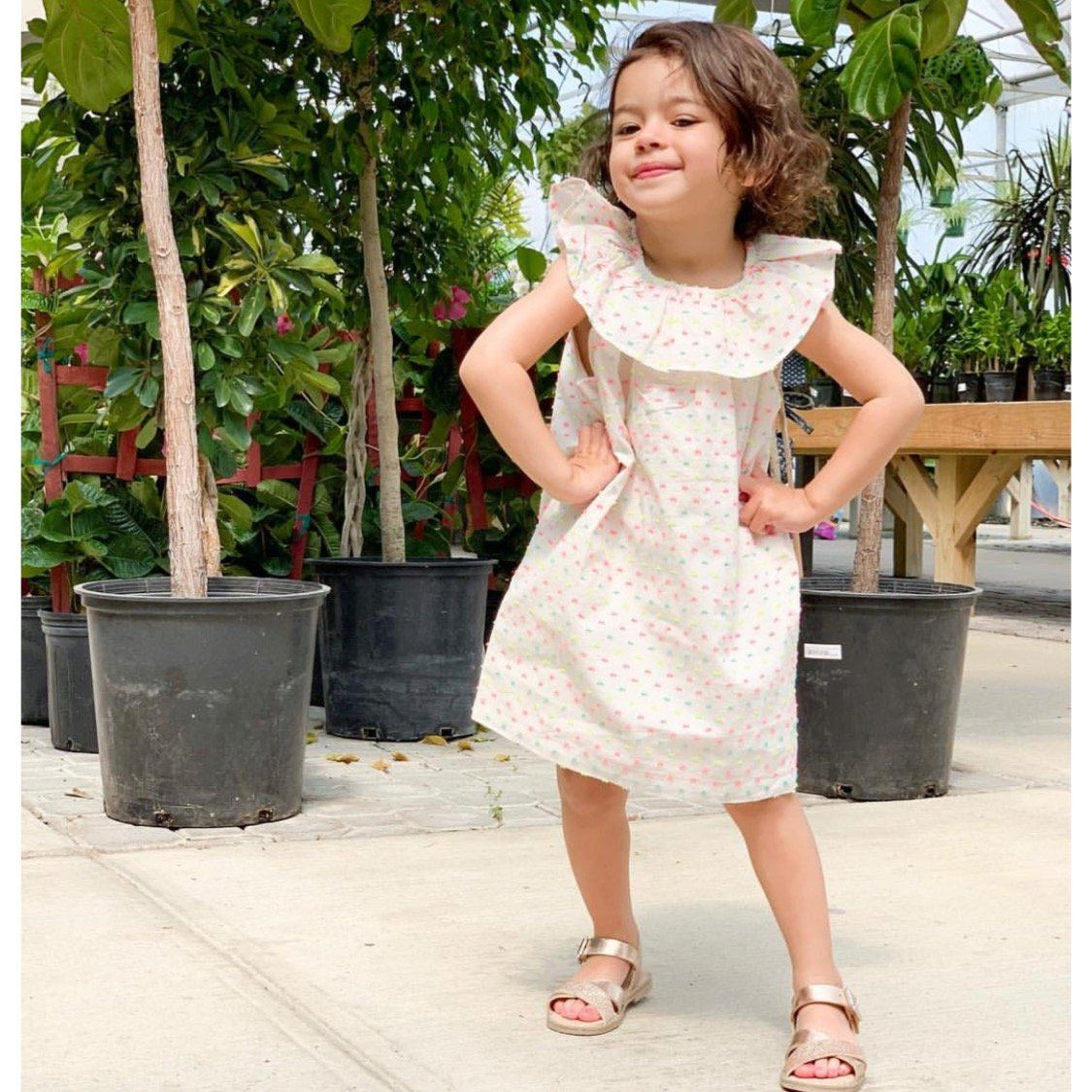 9M13305-I93 Tea Collection Girls Confetti Dress Dress Tea Collection