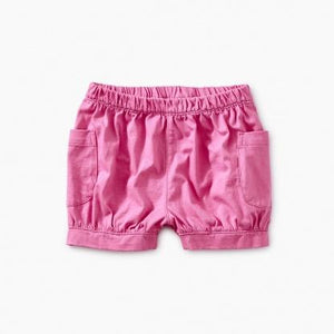 9M32203-932 Tea Collection Sweet Pea Solid Easy Pocket Baby Girls Shorts Shorts Tea Collection