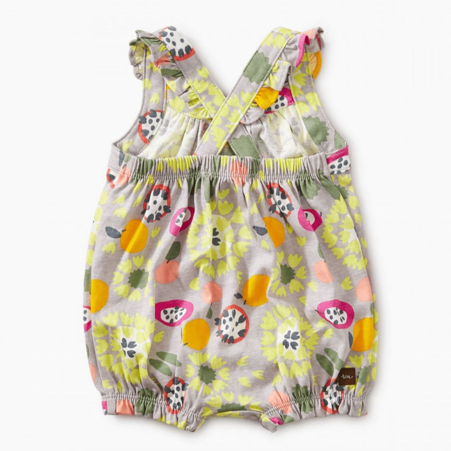 9M32504-I37 Tea Collection Fruit Floral Printed Crossback Baby Girls Romper Romper Tea Collection