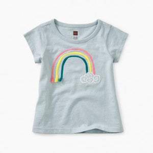 9S32102-406 Tea Collection Baby Girls Short Sleeve 3D Rainbow Graphic Tee Short Sleeve Shirts Tea Collection