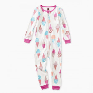 9S32700-H72 Tea Collection Sweet Scoops Baby Girls Romper Pajamas Tea Collection