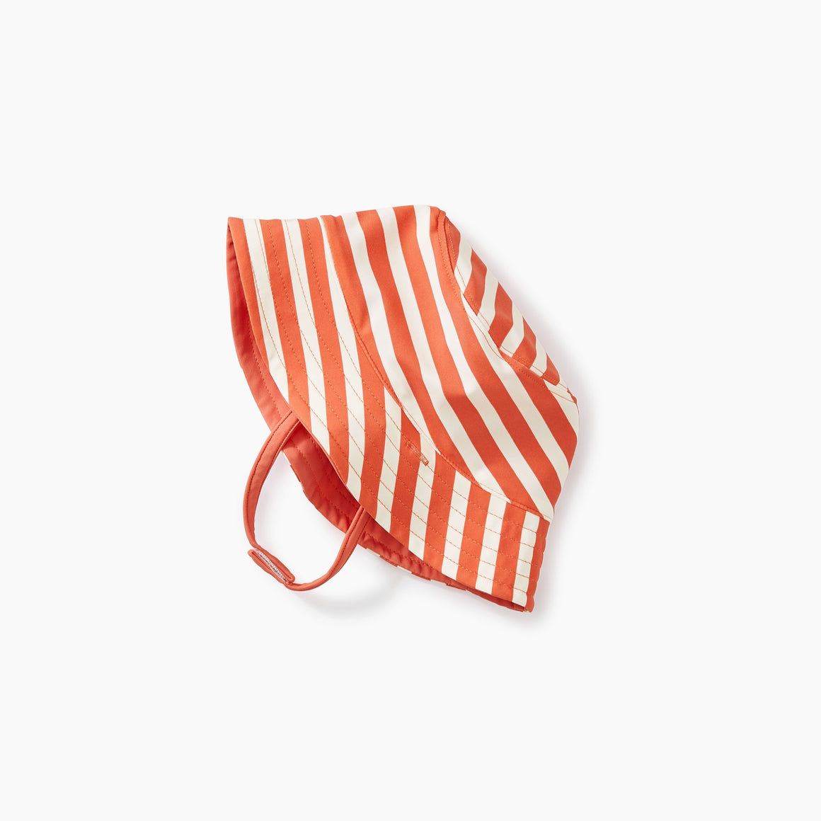 9S32800-K01 Tea Collection - Coral and White Striped Reversible Swim and Sun Hat Swimwear Tea Collection