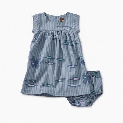 9S33302-I11 Tea Collection Ikat Striped Baby Girls Dress Dress Tea Collection