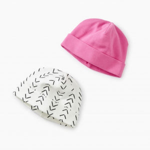 9S52800-I87 Tea Collection - Baby Geo - Paperwhite Hat Two-Pack Hats Tea Collection