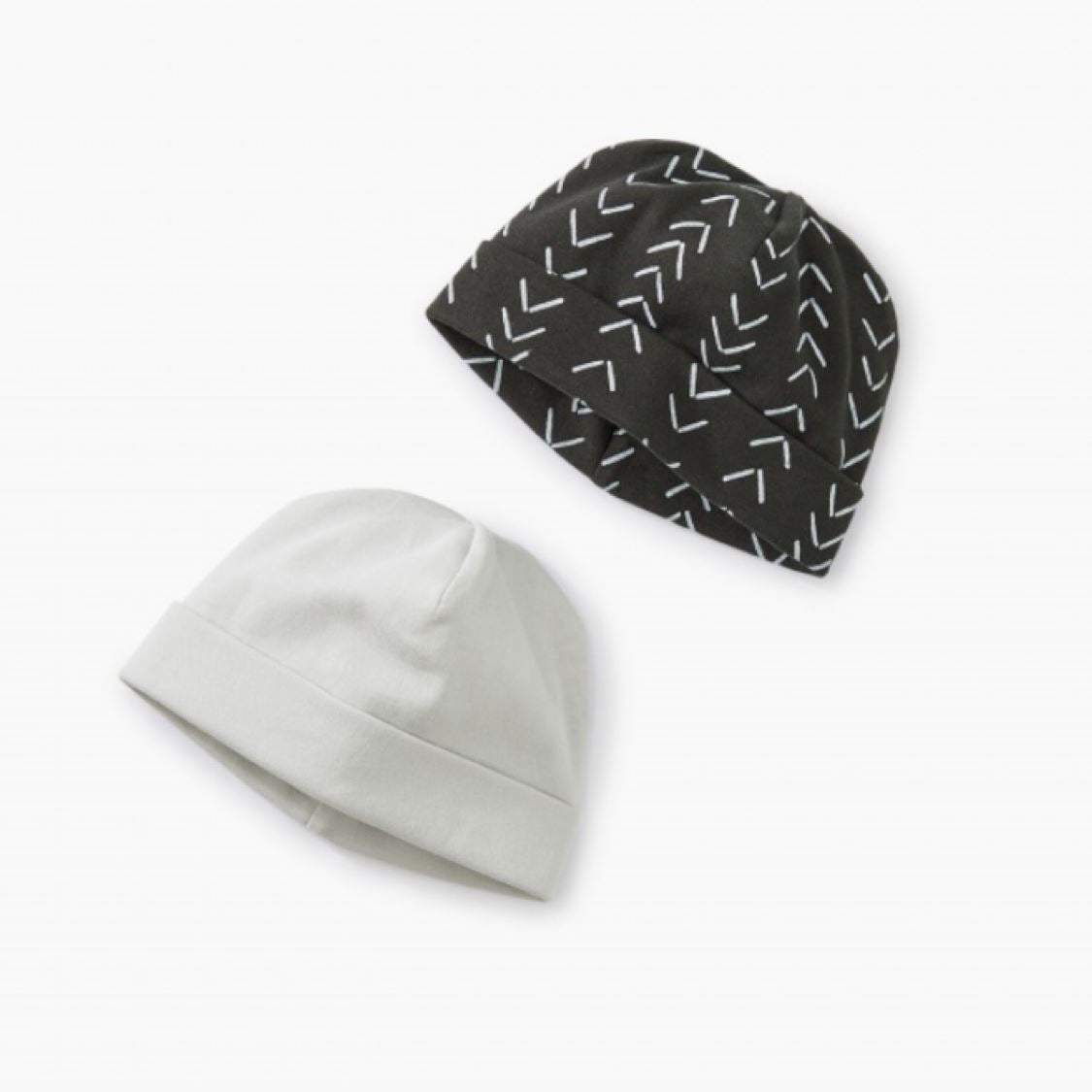 9S72800-I88 Tea Collection - Baby Geo - Iron Hat Two-Pack Hats Tea Collection