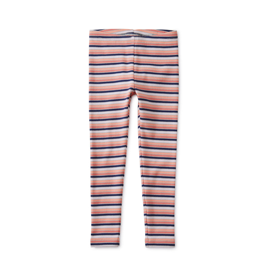 9W12207-181 Tea Collection - Multi Striped Ribbed Stratus Leggings Leggings Tea Collection