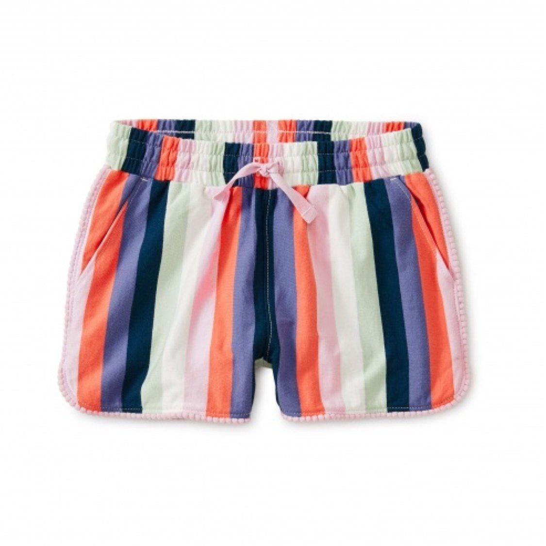 9W12214-685 Tea Collection Water Lotus Pom Pom Shorts Shorts Tea Collection