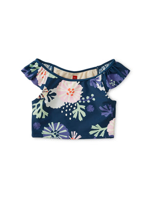 9W12604-Z23 Tea Collection Sea Life Ruffle Tankini Top Swimwear Tea Collection
