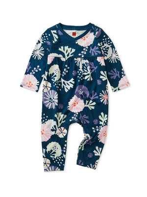 9W32522-Z23 - Tea Collection Sea Life Baby Wrap Neck Romper Jumpsuits / Rompers Tea Collection