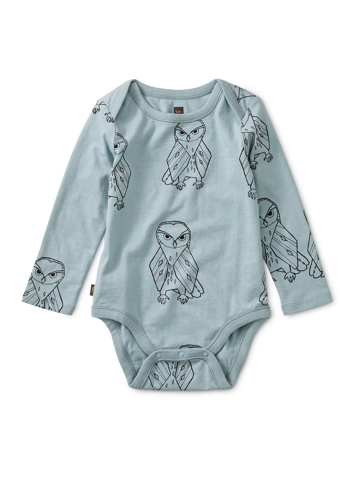 9W42115-Z32 - Tea Collection Owl Print Baby Long Sleeve Onesie Onesie Tea Collection