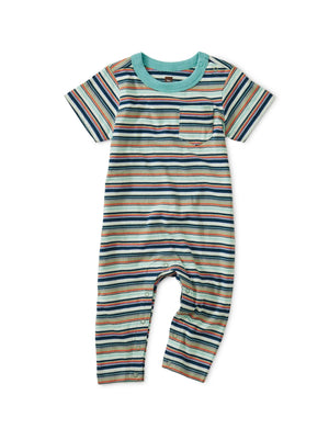 9W42510-B79 - Tea Collection Baby Striped Pocket Romper Romper Tea Collection