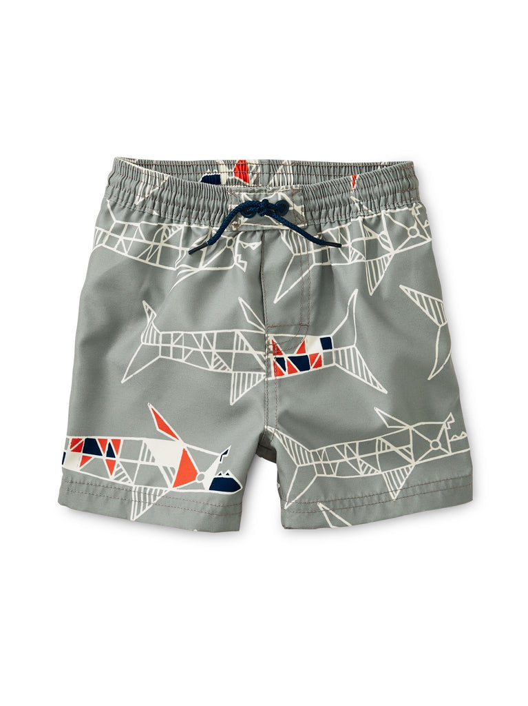 9W43600-Z40 - Tea Collection Baby Sharks Printed Baby Swim Trunks Swimwear Tea Collection