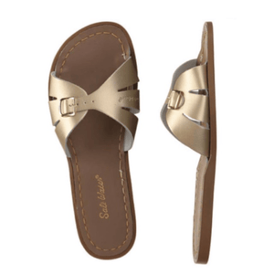 Adult Classic Slide Saltwater Sandals - Gold Sandals Salt Water Sandals