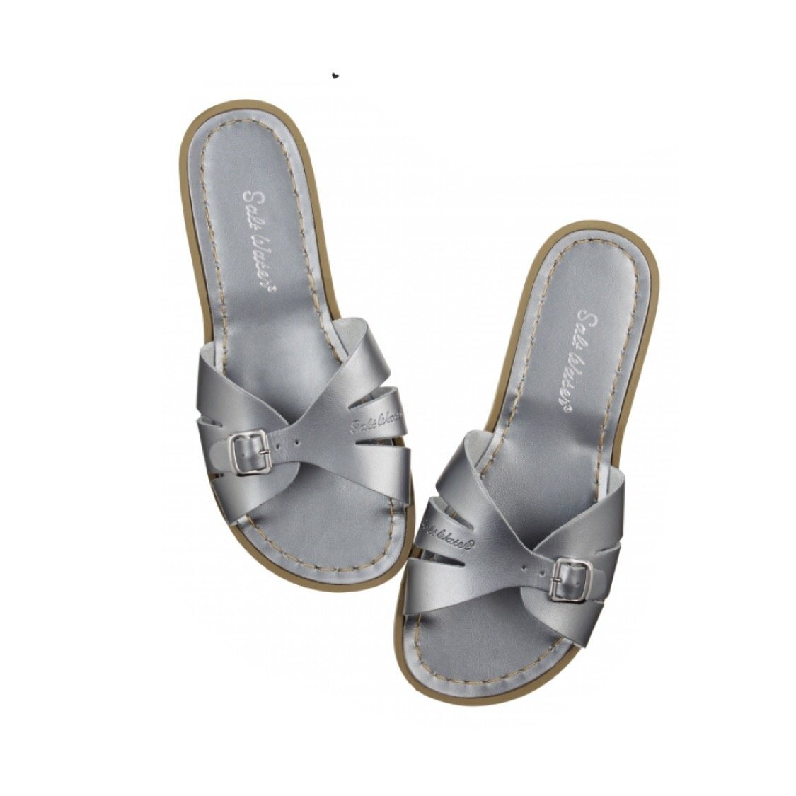 Adult Classic Slide Saltwater Sandals - Pewter Sandals Salt Water Sandals