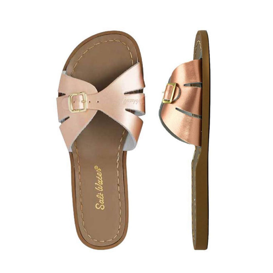 Adult Classic Slide Saltwater Sandals - Rose Gold Sandals Salt Water Sandals