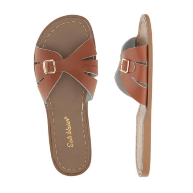 Adult Classic Slide Saltwater Sandals - Tan Sandals Salt Water Sandals