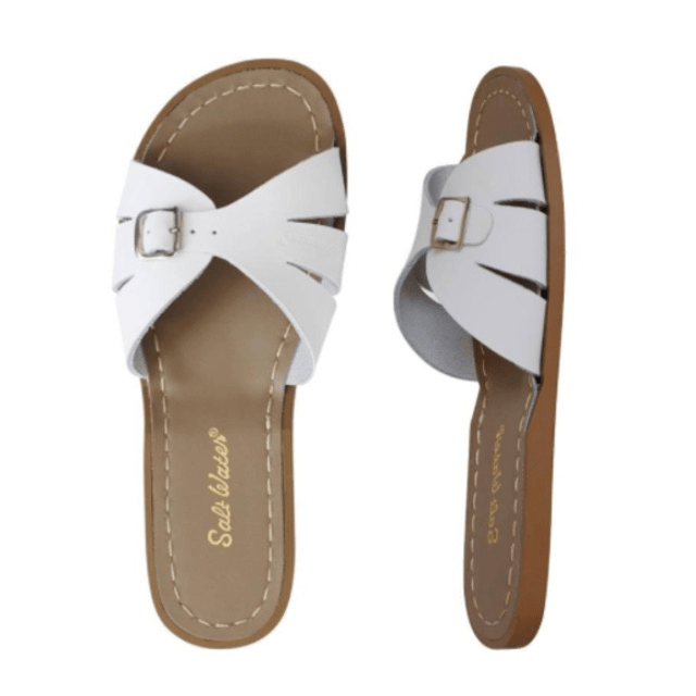 Adult Classic Slide Saltwater Sandals - White Sandals Salt Water Sandals