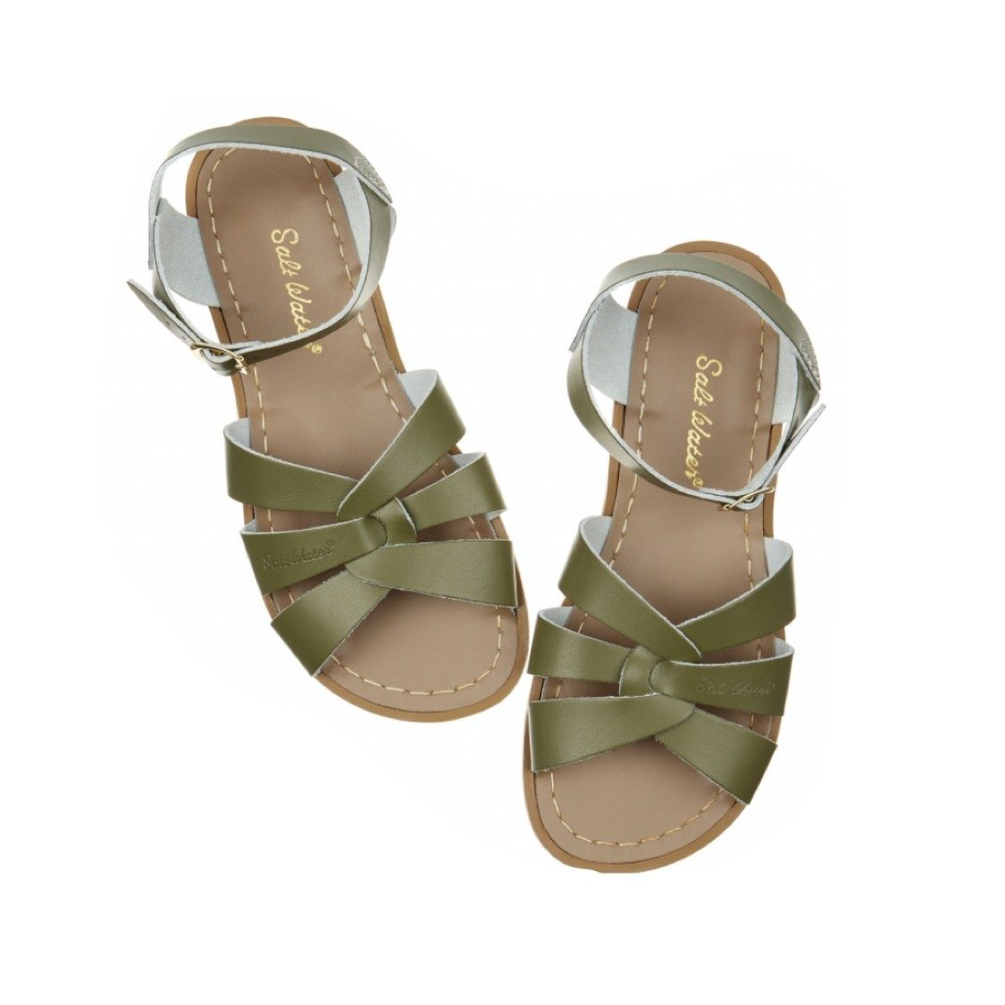Adult Original Saltwater Sandals - Olive Sandals Salt Water Sandals