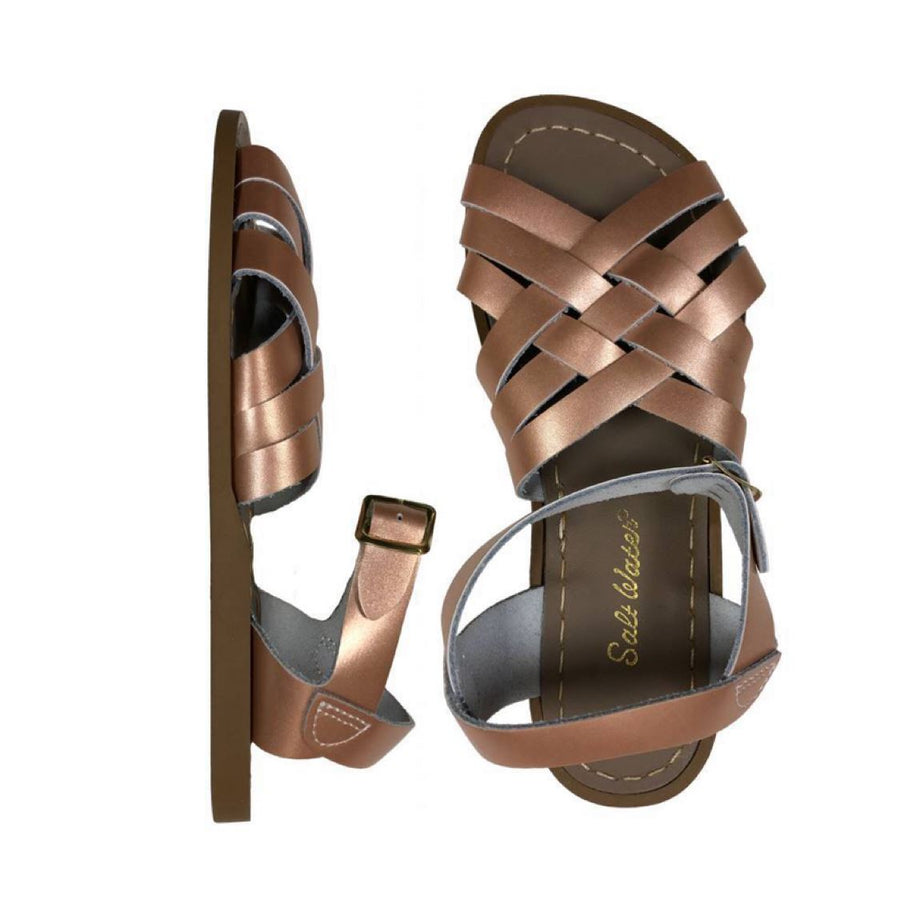 Adult Retro Saltwater Sandals - Rose Gold Sandals Salt Water Sandals